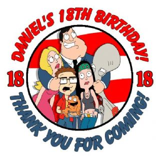 Personalised American Dad Party Stickers
